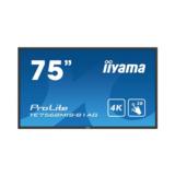 "Iiyama Touch Display LFD TE7568MIS-B1AG 189,2 cm (74,5"") 3840 x 2160 Pixel 8 ms"