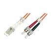 Roline LWL Duplexkabel 62,5/125µm LC/ST orange 2m