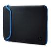 "HP Neopren Sleeve Notebooktasche 39,6 cm (15,6"") schwarz/blau"