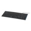 Hama Anzano Multimedia-Tastatur mit seitlichem Leuchtstreifen schwarz