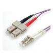Roline LWL-Duplexkabel 50/125µm OM4 LC/SC violett 1m
