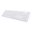 Hama kabelgebundene Tastatur KC500 weiß