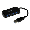 StarTech SuperSpeed Mini USB 3.0 Hub 4 Port Schwarz