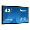 "Iiyama 109,22 cm (43"") Touchscreen 1920x1080 400cd/m² 4000:1 8ms MultiTouch"