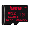 Hama microSDHC 16GB UHS Speed Class 3 UHS-I 80MB/s ohne Adapter/Mobile