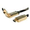 Roline Gold Kabel HDMI mit Ethernet Stecker/Stecker 2m 3D-drehbar