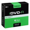 1x10 Intenso DVD-R 4,7GB 16x Speed, Slimcase