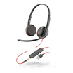 Plantronics Blackwire 3225, Headset binaural mit USB-A/3,5 mm Klinkenstecker