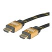 Roline Gold Kabel HDMI mit Ethernet Stecker/Stecker 1m