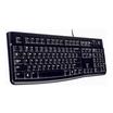 Logitech Tastatur K120 for Business USB schwarz Tastatur-Layout Deutsch