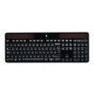 Logitech Tastatur K750 Wireless Solar USB schwarz Tastatur-Layout Deutsch