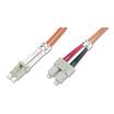 Digitus LWL Duplexkabel 50/125µm LC/SC orange 2m