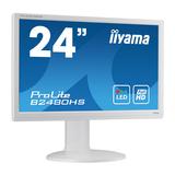 "Iiyama ProLite B2480HS 60 cm (23,6"") Weiß 1920 x 1080 Pixel 1000:1 250 cd/m² 2 ms"