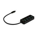 StarTech.com 4 Port USB-C Hub - 4x USB-A mit individuellen An/Aus-Schaltern