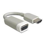 Delock Adapter HDMI Stecker/VGA Buchse weiß