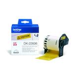 Brother DK22606 Etiketten gelb 62mmx15,24m für QL-500/5500