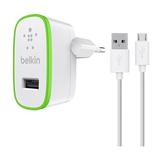 Belkin Netzladegerät 2,4A + Micro-USB Kabel 1,2m, Weiß