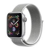 Apple Watch Series 4 40mm GPS Aluminiumgehäuse Silber mit Sport Loop Muschelgrau