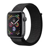 Apple Watch Series 4 44mm GPS Aluminiumgehäuse Space Grau mit Sport Loop Schwarz
