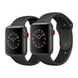 Apple Watch Edition 38mm GPS+Cellular Keramikgehäuse Grau mit Sportarmband Grau/Schwarz