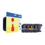 Brother LC121 Value Pack Tinte ca. 600 Seiten schwarz/gelb/cyan/magenta