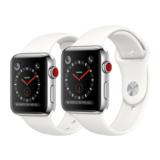 Apple Watch Series 3 42mm GPS+Cellular Edelstahlgehäuse mit Sportarmband Soft Weiß