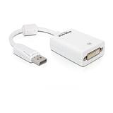 Delock Adapter DisplayPort Stecker/DVI-I Buchse 12,5cm weiß
