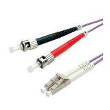 Roline LWL-Duplexkabel 50/125µm OM4 LC/ST violett 1m
