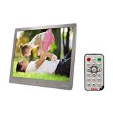 Hama Digitaler Bilderrahmen 97SLP, 24,64 cm (9,7 Zoll), Slim Steel, Musik & Video