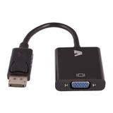 V7 Adapter DisplayPort zu VGA Stecker/Buchse Schwarz 0,2 m
