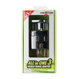 Ansmann All in One 3 Reiseadapter für Geräte mit 2- oder 3-poligen Steckern