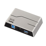 Hama USB-3.0-Hub 1:4, mit Netzteil, Silber/Schwarz
