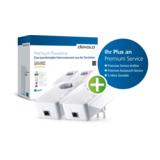Devolo GIGABIT Starterset Bridge GigE, HomePlug AV (HPAV) an Wandsteckdose anschließbar
