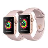 Apple Watch Series 3 42mm GPS Aluminiumgehäuse Gold mit Sportarmband Sandrosa