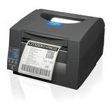 Citizen CL-S521, Etikettendrucker, weiß, Thermodirekt, Auflösung: 8 Punkte/mm (203dpi), Medienbreite (max): 104mm, Geschwindigkeit (max.): 150mm/Sek., RS232, USB), Emulation: ZPL, Datamax,