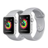 Apple Watch Series 3 42mm GPS Aluminiumgehäuse Silber mit Sportarmband Nebel