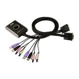 Aten 2port USB2.0/DVI KVM-Switch mit Kabel Fernsteuerung