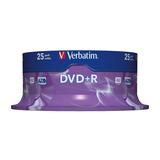 Verbatim DVD+R Rohlinge 4,7GB 16x 25Stück Spindel 2 Jahre Herstellergarantie