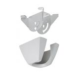 Vogels PFA 9005 Deckenmontageplatte silber inkl. Sicherheits- und Hebeöse, für den Einsatz von Verlängerungsrohren PFA9003/9004/9015/9016
