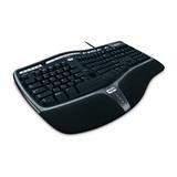 Microsoft Tastatur Natural Ergonomic 4000 USB schwarz Tastatur-Layout Deutsch
