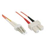 InLine LWL Duplexkabel OM2 LC/SC 50/125µm orange 3m