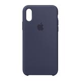 Apple Silikon Case für iPhone XS Mitternachtsblau