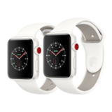 Apple Watch Edition 42mm GPS+Cellular Keramikgehäuse Weiß mit Sportarmband Soft Weiß/Kiesel