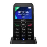 "Alcatel One Touch 2008G Full Black 6,1 cm (2,4"") 320x240 Pixel Display 2 MP Kamera Micro-USB/Klinke/Bluetooth3.0"