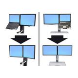 Ergotron WorkFit-Kit zur Konvertierung von LCD & Laptop zu Dual, speziell für WorkFit-S oder WorkFit-C