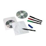 Hama CD-/DVD-Papierhüllen, 100er-Pack, Weiß