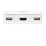 InLine KVM Switch, 2-fach HDMI USB  mit Audio integr. Kabel