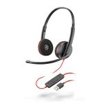 Plantronics Blackwire 3220, Headset binaural mit USB-A  Anschluss