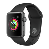 Apple Watch Series 2 38mm Aluminiumgehäuse Space Grau mit Sportarmband Schwarz