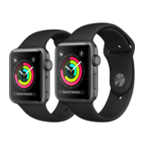 Apple Watch Series 3 42mm GPS Aluminiumgehäuse Space Grau mit Sportarmband Schwarz
